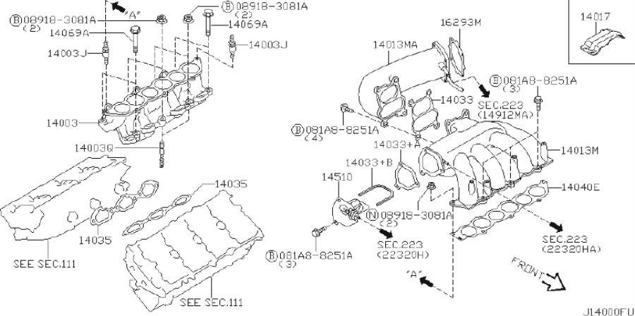 Infiniti I35 Valve Power  Intake  Engine  Cover