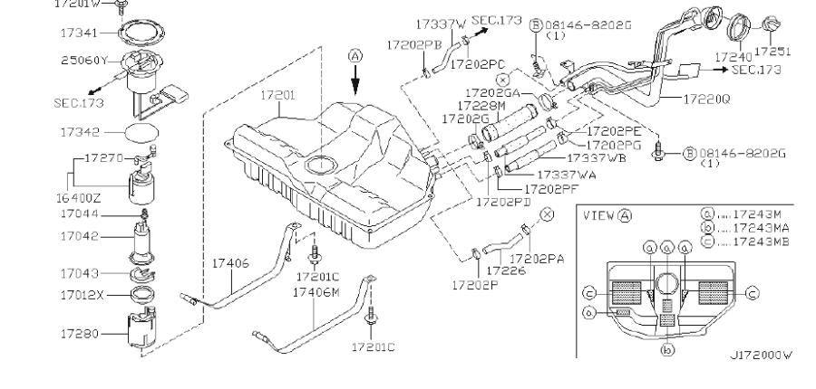 Infiniti I30 Fuel Pump Inner Tank