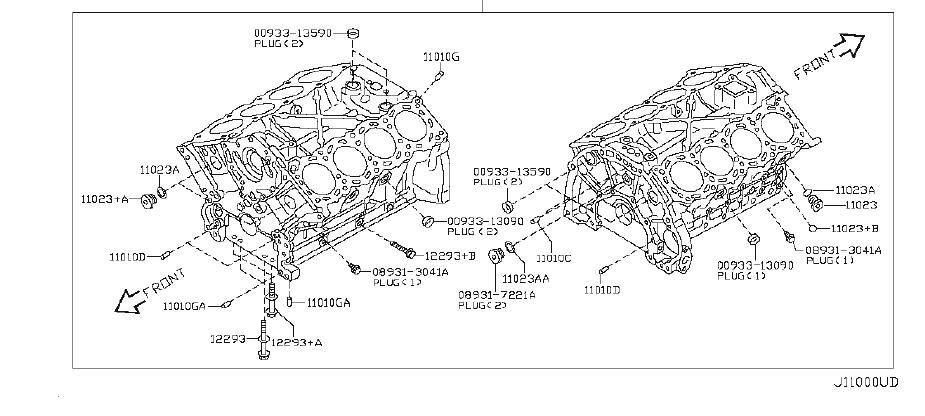 Infiniti Q45 Engine Crankshaft Seal  Rear   Assembly  Ndk