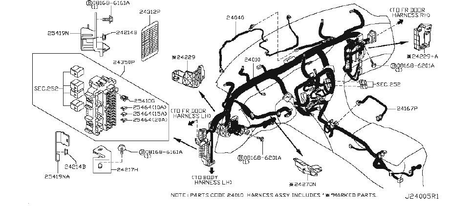 Infiniti Ex35 Harness Door   Right  Front   Wag  Body