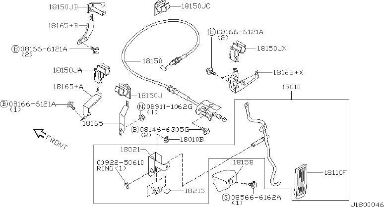 Infiniti Qx4 Wire Accelerator