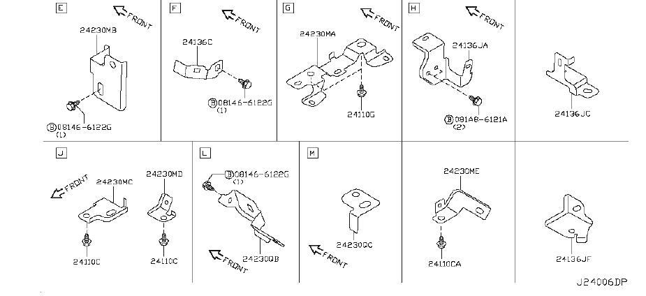 Infiniti G37x Engine Wiring Harness  Body  Fitting  Room