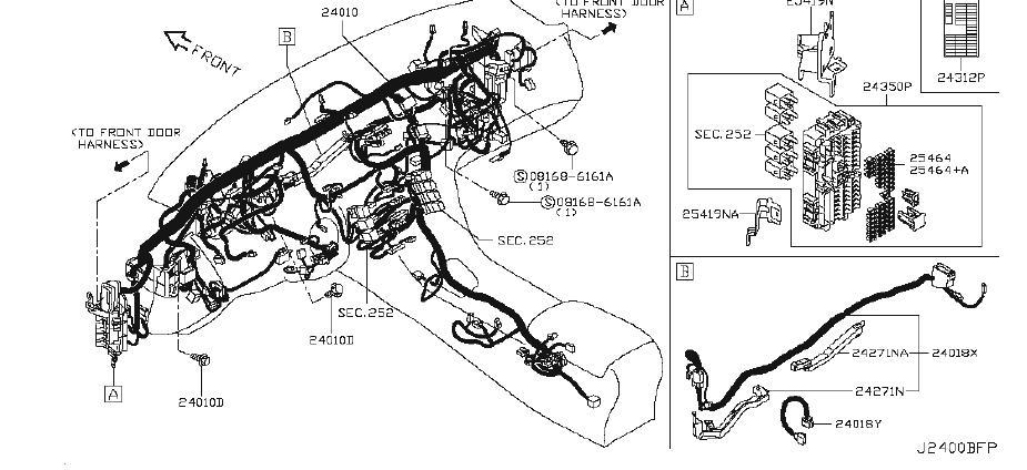 Infiniti Q50 Bracket Egi Harness  Power  Strg  Body