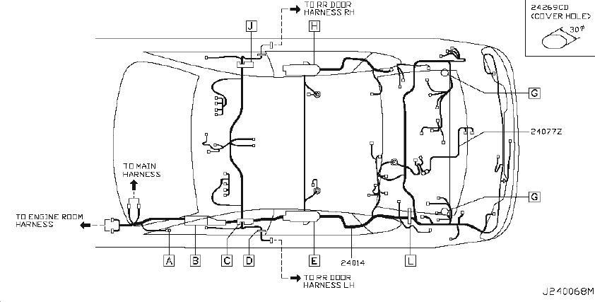 Infiniti M45 Relay Box  Engine  Body  Room